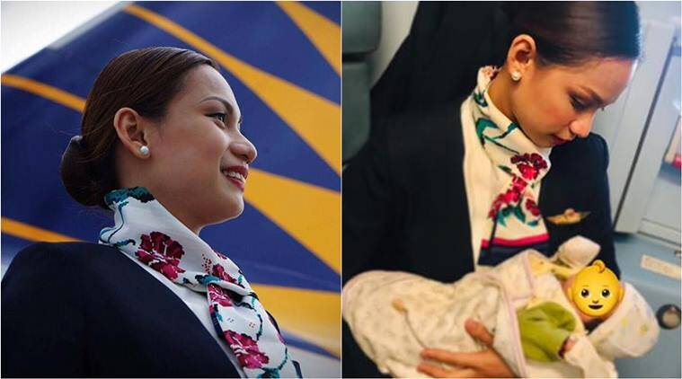 Philippine Airlines, flight attendant breastfed baby, flight attendant feds stranger baby, flight attendant breastfed inflight baby, viral news, good news, indian express