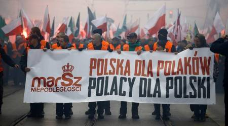 Poland, Poland national independence, 100 years of national independence of Poland, independence march, right wing march in Poland, indian express