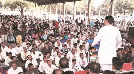 Jasdan bypoll: Congress launches campaign with farmer rally, attack on Bavaliya