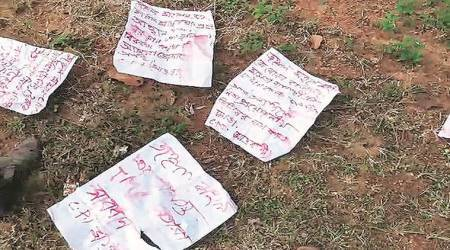 Maoist, maoist threats, handiwork of Maoists, Maoist leaflets. Kolkata police, latest Indian express