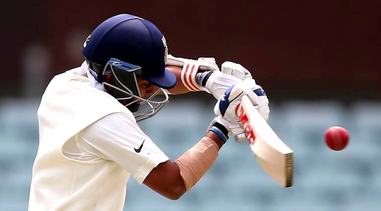 India's Prithvi Shaw bats during their tour cricket match against Cricket Australia XI in Sydney
