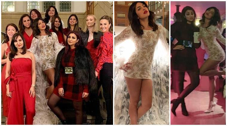Priyanka celebrates bachelorette party with bride brigade