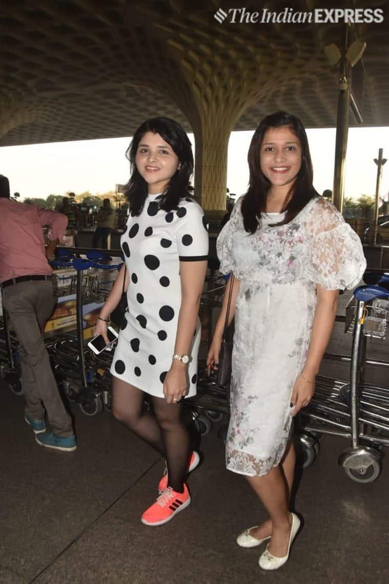chopra sisters leave for priyanka's jodhpur wedding