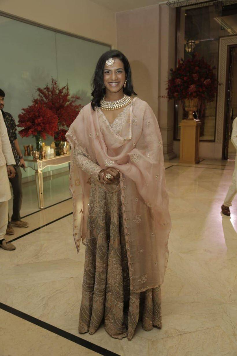 PV sindhu at deepveer reception