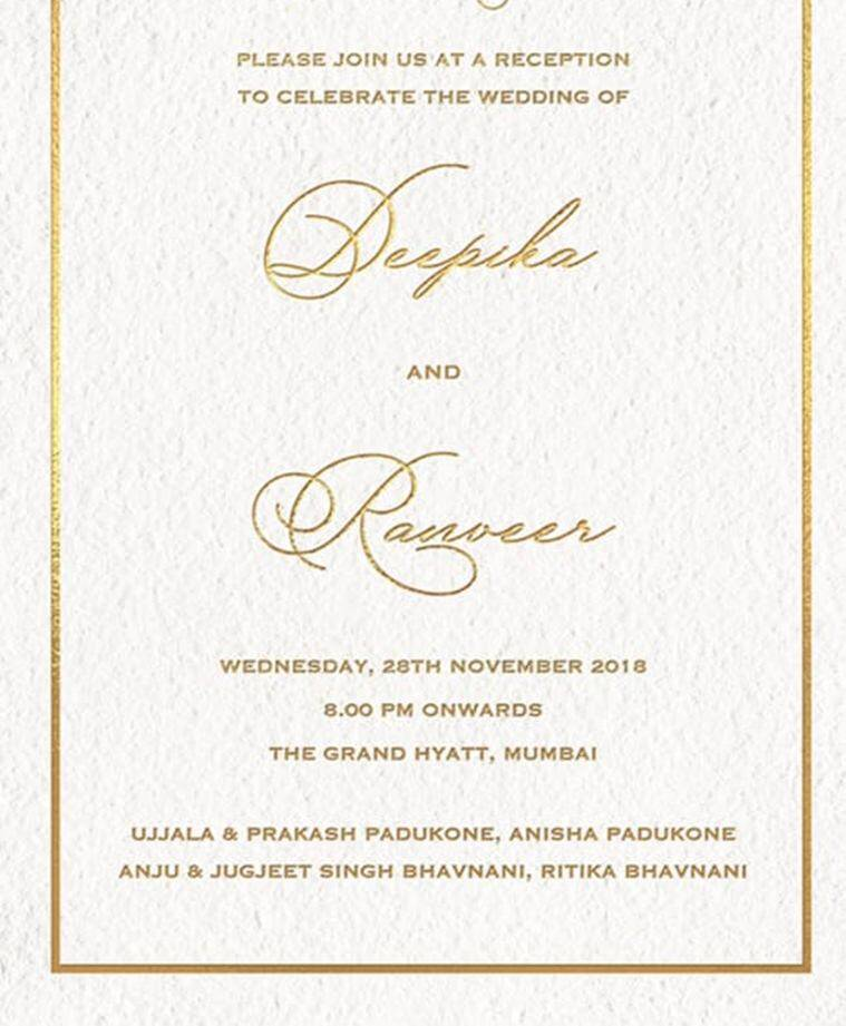 ranveer deepika reception invite