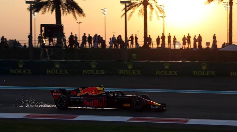 Red Bull driver Daniel Ricciardo at the Yas Marina Circuit in Abu Dhabi