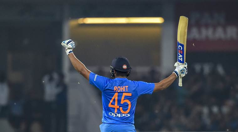 Rohit Sharma scored two hundreds in T20Is in 2018 (photo - getty)