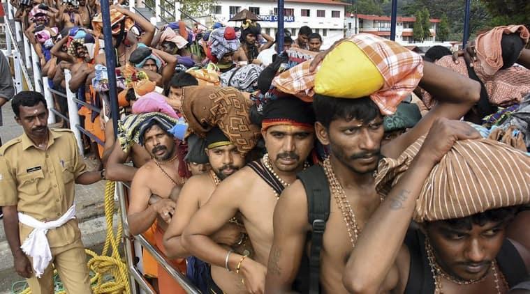 Sabarimala temple, sabarimala visit, sabarimala row, trouble in sabarimala, people detained from sabarimala, indian express