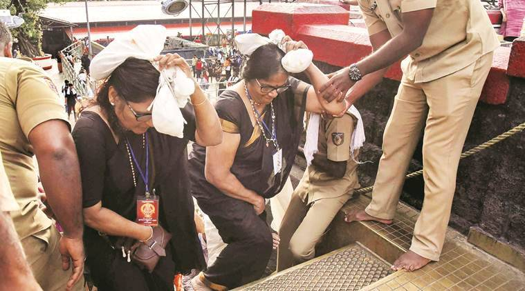 sabarimala, sabarimala violence, sabarimala devotees, sabarimala , Kerala police, sabarimala row, Sabarimala protests, Sabarimala row, Sabarimala, sabarimala temple, Sabarimala opens today, protests at Sabarimala, BJP workers protest Sabarimala,, Indian Express
