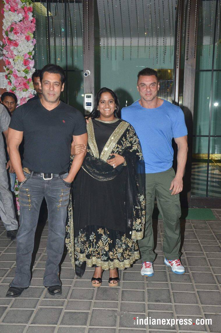 salman khan with sohail khan and arpita khan