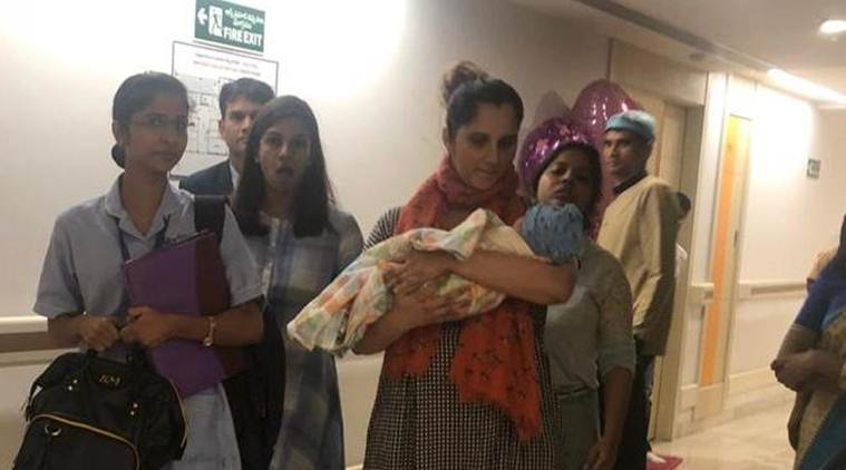 Spotted! Sania Mirza leaves hospital with son Izhaan Mirza-Malik