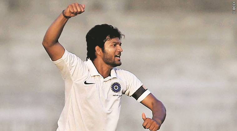 Jalaj Saxena, saxena spinner, saxena picks 8 wickets, saxena score hundred, Indian Express