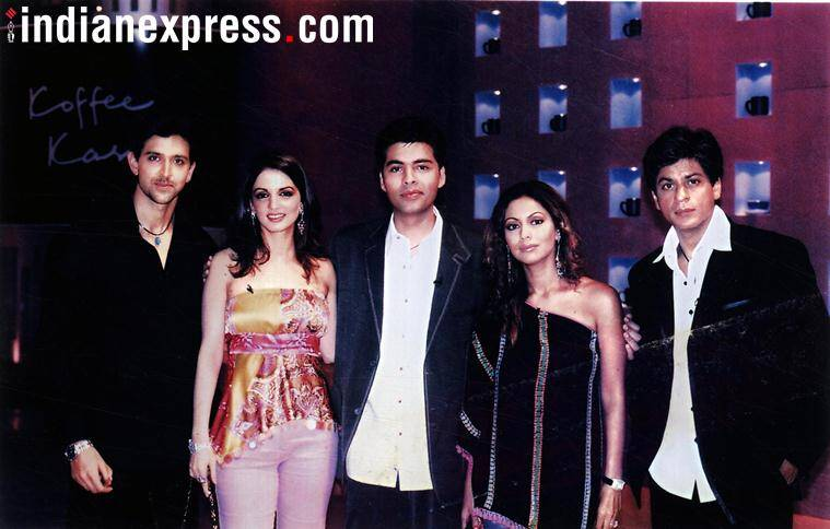 shah rukh khan with karan johar and gauri khan