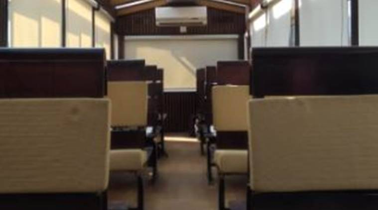 The coach has a seating capacity of 36 and in addition to glass roof also has modified windows and conditioned system. (Twitter/@PiyushGoyal)