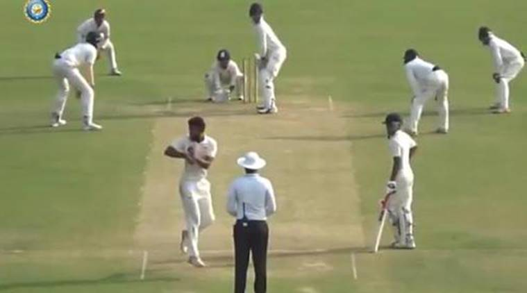 Indian bowler's unique action becomes the talk of the town