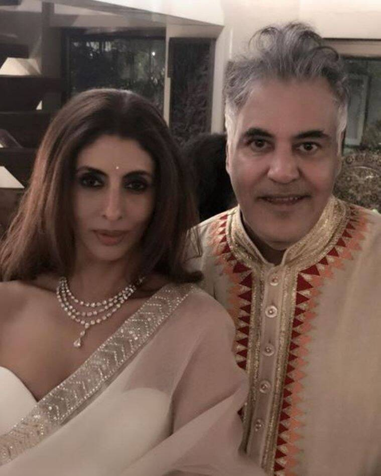 shweta bachchan at diwali party