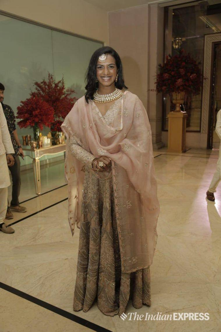 P.V. Sindhu in the deep receiver