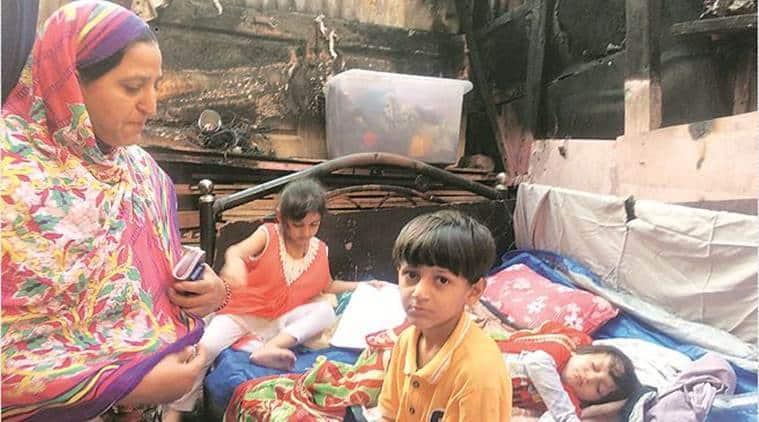 Mumbai slum fire, slum fire in Mumbai,Habitat and Livelihood Welfare Association, Children of slums, Mumbai, Indian Express, latest news
