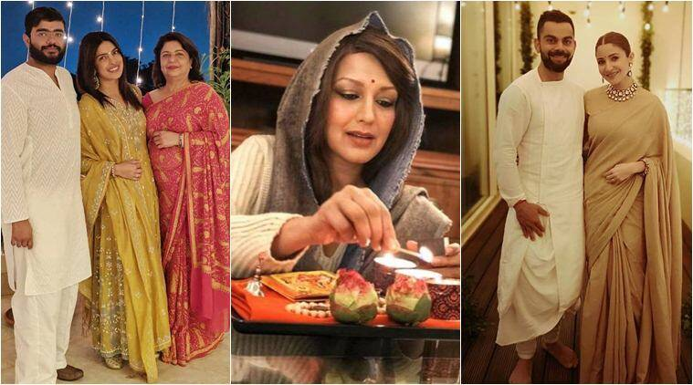 sonali bendre diwali celebrations in New York
