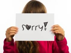 How to teach kids the art of apology