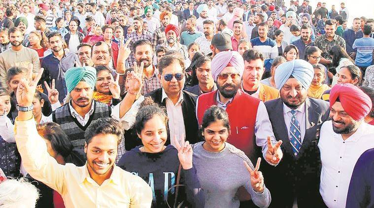 Three years 'later', Punjab gives cash awards to sportspersons