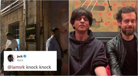 shah rukh khan, jack dorsey, twitter ceo india visit, srk jack dorsey meeting, srk jack twitter chat, viral new, funny news, entertainment news, indian express