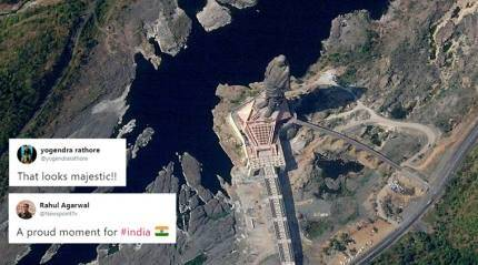 'Statue of Unity' is visible from space; incredible satellite photo leaves Indians excited