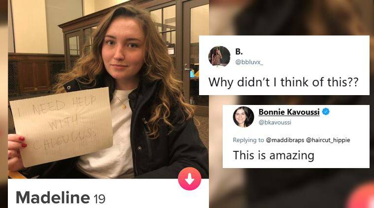 College student turns to Tinder to get help with math before