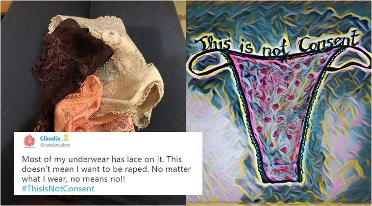 713f4a3d2f ThisIsNotConsent  Women post photos of their underwears in protest ...