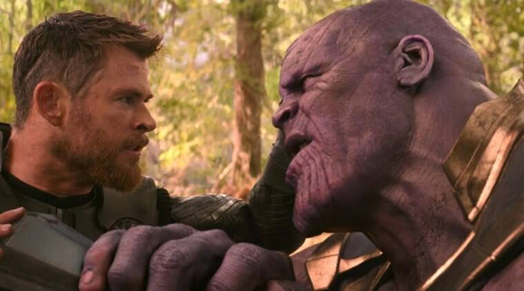 thor almost kills thanos with stormbreaker