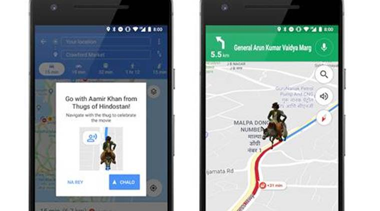 Navigate Google Maps with Aamir Khan's character from Thugs of Hindostan