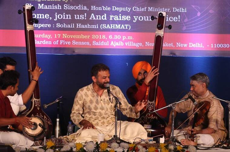 Carnatic singer TM Krishna gives performance in Delhi.