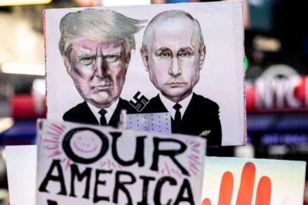 Donald Trump, Robert mueller, Jeff sessions, Matthew whitaker, russia probe, us protest, russian influence, 2016 us presidential election, presidential election campaign, protest across us, global news, world news, indian express