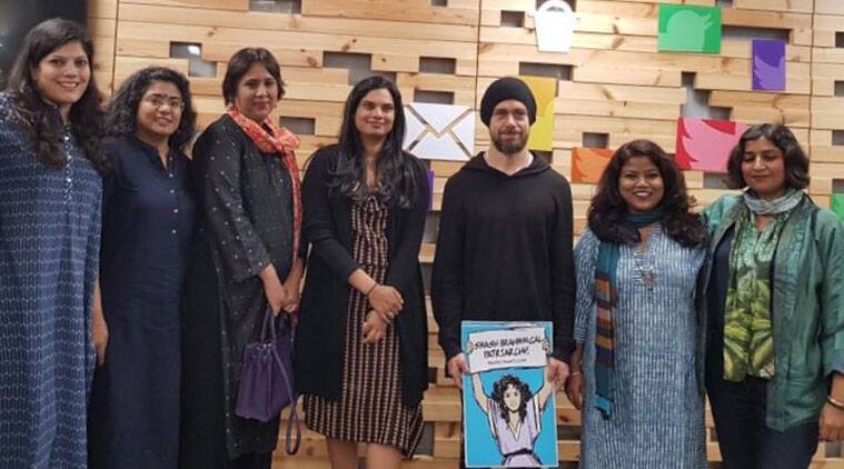Twitter, Twitter CEO controversy, Jack Dorsey, Twitter India, brahmanical patriarchy, Smash brahmanical patriarchy, Jack Dorsey poster, Jack Dorsey India controversy