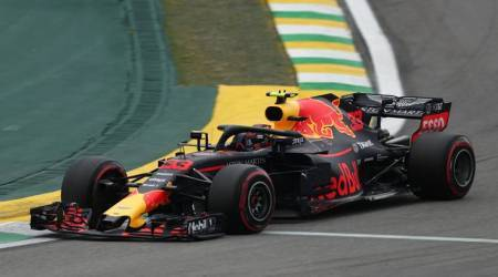 Red Bull's Max Verstappen during qualifying at Brazilian Grand Prix