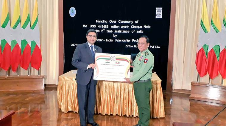 India extends  million aid to Myanmar for border development projects