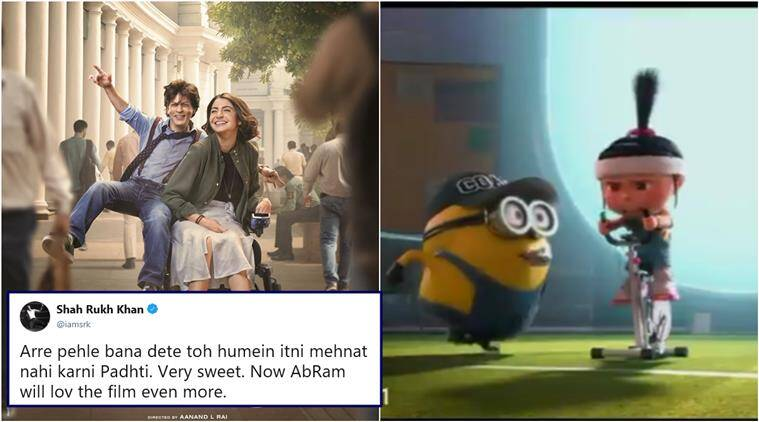 zero, zero trailer, shah rukh khan, zero trailer minion version, zero trailer boss baby, zero trailer memes, zero cartoon version, funny news, entertainment news, indian express