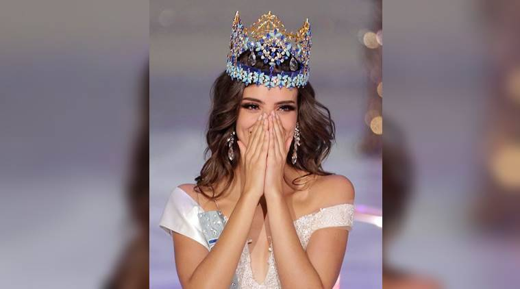 Miss World 2018: The 26-year-old smiled away with moist eyes as she folded her hands in gratitude to gesture the traditional Indian 'Namaste' greeting when Manushi placed the elaborate crown on her head. (Reuters)
