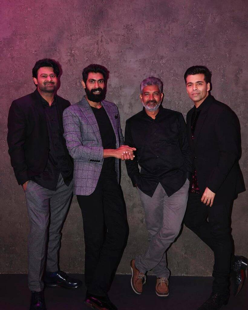 karan johar in chat with baahubali team