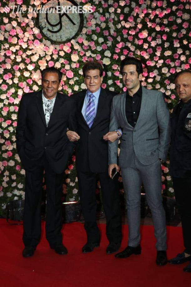 dharmendra and jeetendra with tusshar kapoor
