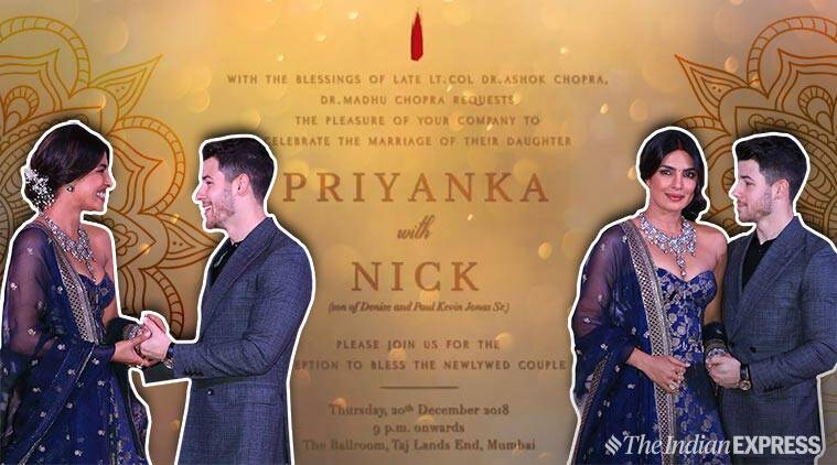 Priyanka Chopra and Nick Jonas' Mumbai reception: Details