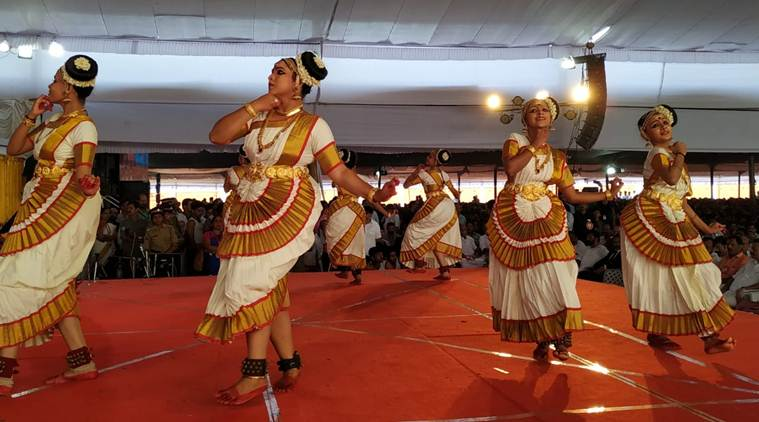 The inaugural function within the airport premises. (Express photo)