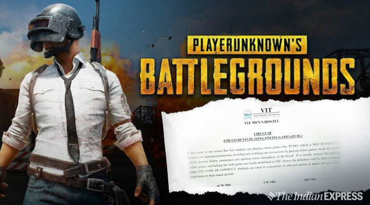 PUBG, Vellore institute of technology, vit hostel band pubg, pubg bad effects, viral news, campus news, indian express