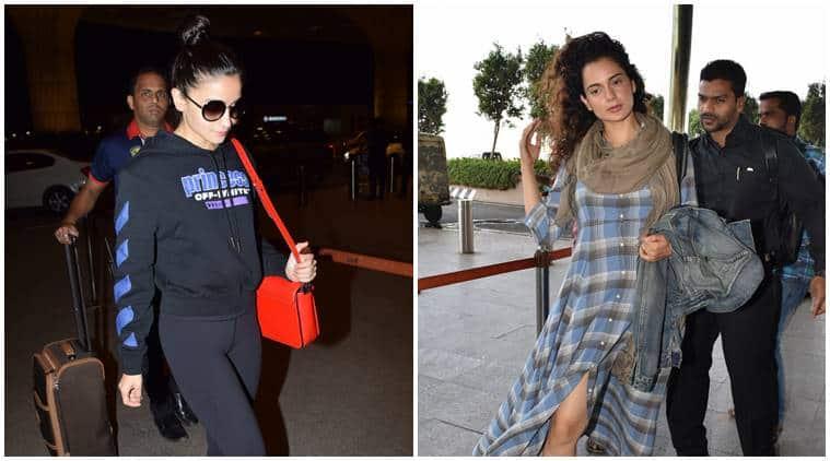 Kangana Ranaut, Alia Bhatt, Shilpa Shetty, Kangana Ranaut airport fashion, Shilpa Shetty airport fashion, Alia Bhatt airport fashion, celeb fashion, bollywood fashion, airport fashion bollywood, latest airport fashion, indian express, indian express news