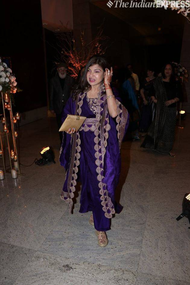 alka yagnik at her daughter reception