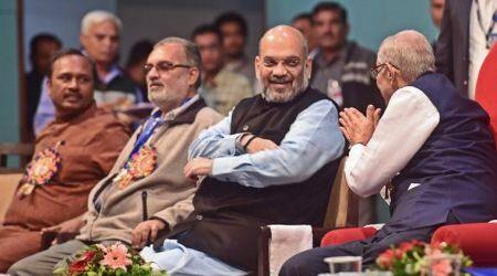Amit Shah, Amit Shah BJP, BJP RSS, ABVP, ABVP Amit Shah, Nationalism on campuses, india news, indian express, latest news,