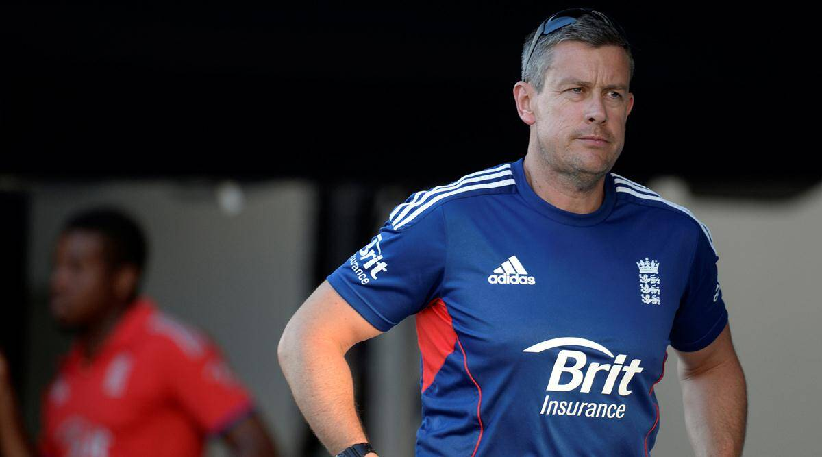England's coach Ashley Giles reacts after England lost the first One-Day International against the West Indies at North Sound in Antigua February 28, 2014.