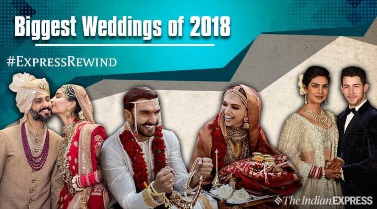 Bollywood weddings sonam kapoor deepika padukone ranveer singh priyanka chopra nick jonas