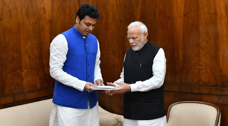Tripura Cm Biplab Deb Meets Pm Modi In Delhi, Seeks Rs 1,110 Crore Assistance