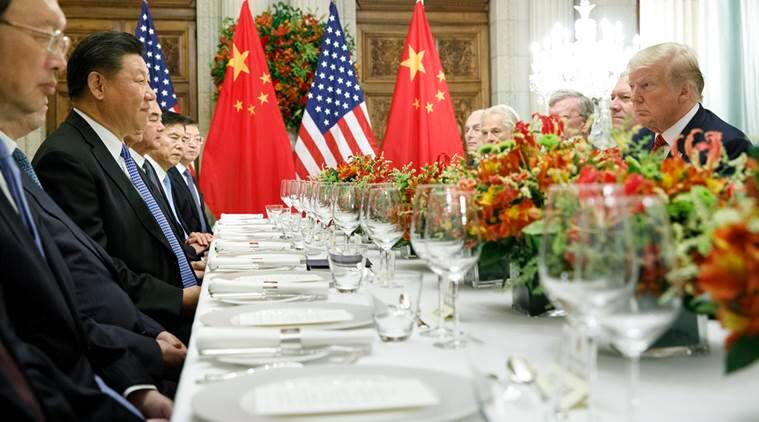 President Donald Trump at a bilateral dinner meeting with President Xi Jinping of China during the G20 summit in Buenos Aires, Argentina in December.